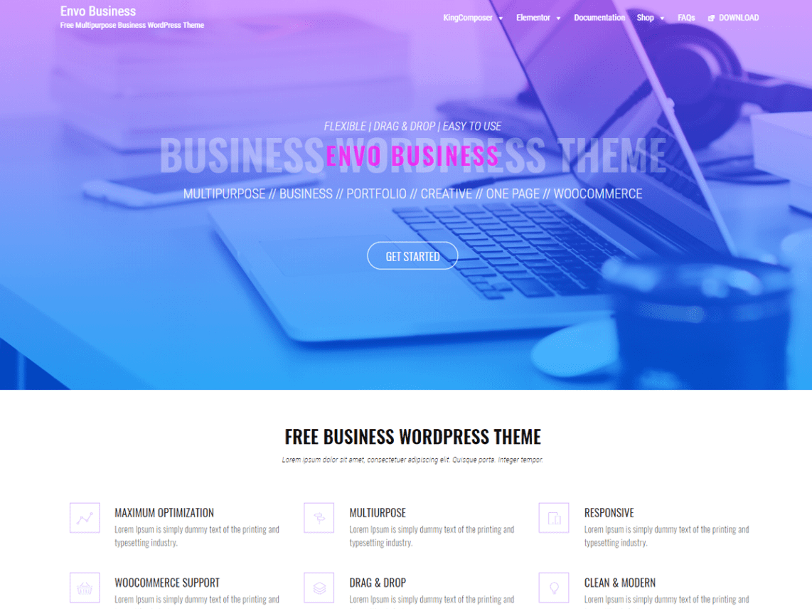 Envo Business Theme