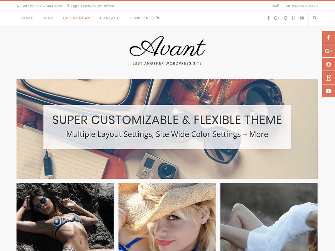 Avant E-Commerce Theme