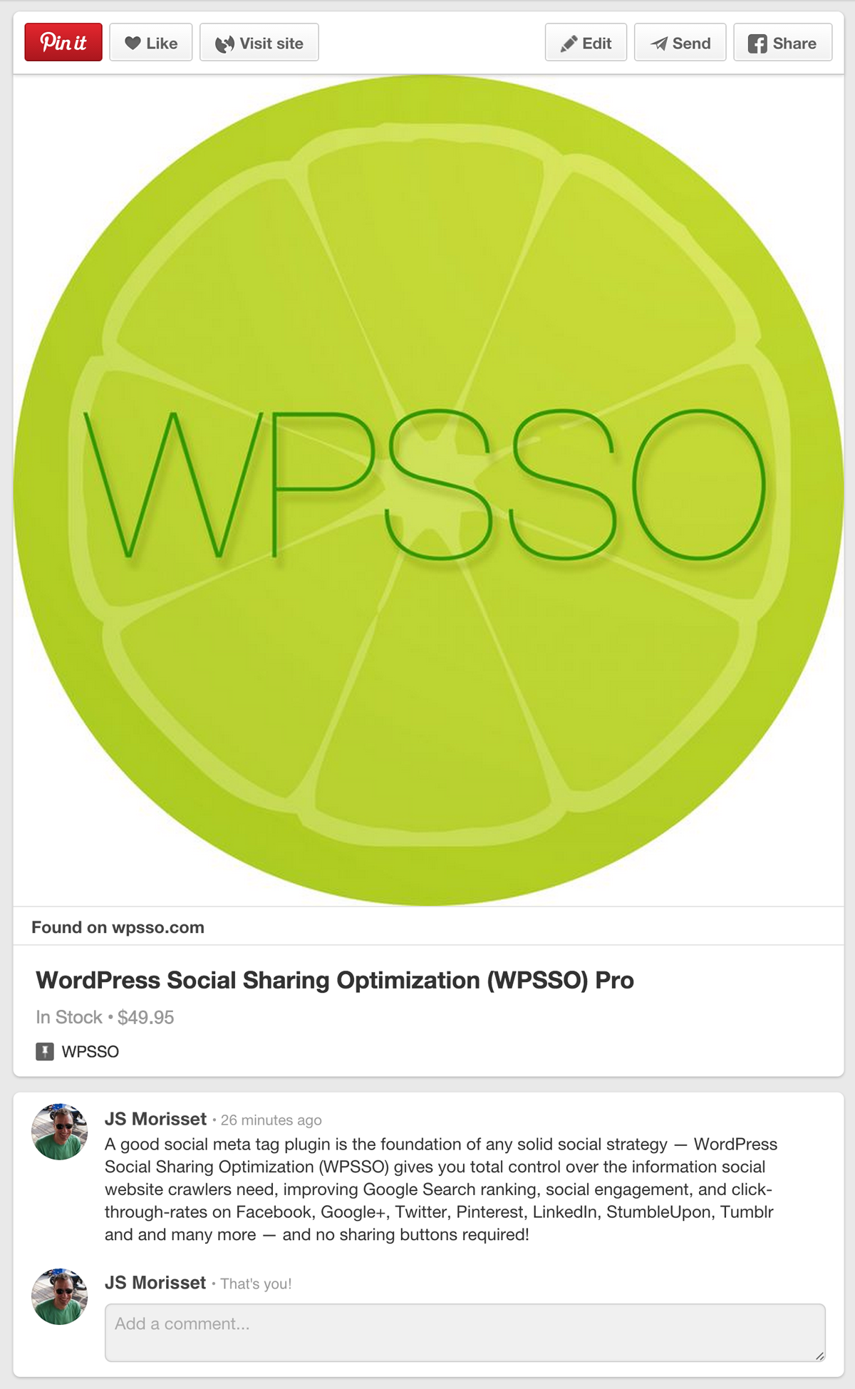 WPSSO social share plugin